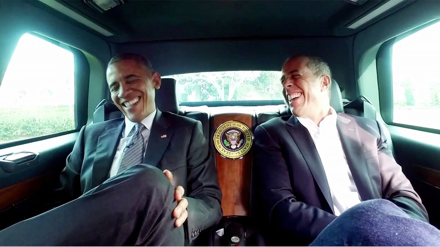 Comedians in cars getting coffee: President Barack Obama